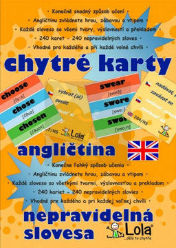 Obrázek Chytré karty Angličtina nepravidelná slovesa