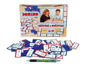 Obrázek Domino sčítání a odčítání do 10 - společenská hra