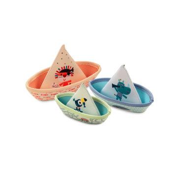 Obrázek Lilliputiens - 3 plovoucí lodičky - džungle - hračka do vody