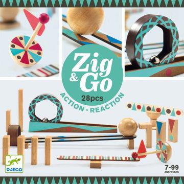 Obrázek DJECO Dřevěná dráha Zig Go 28 dílků