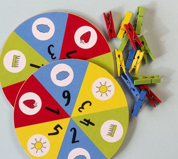 Obrázek Kolíčky, počty a 4 barvy